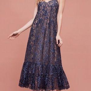 Anthro Moulinette Souers Celestial Lace Maxi Dress